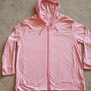PLUS SIZE WOMEN'S 2X lightweight hoodie jacket